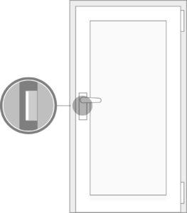 Standardtüren ohne Einbruchschutz