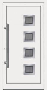 Kunststoff Haustüre Weiß mit Glas